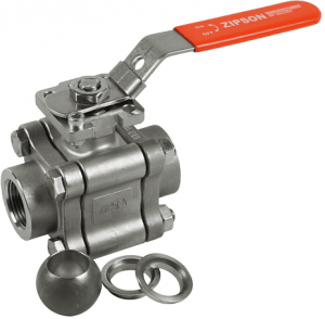 3-pc metal seated ball valve, threaded end