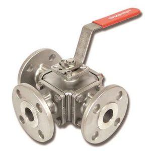 501F, 3-way flange ball valve