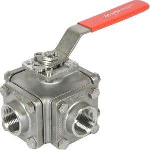 501T, 3 & 4-way ball valve, thread, SW, BW