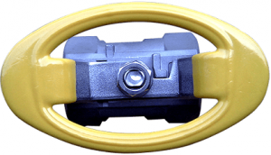 Oval handle on 1-pc ball valve
