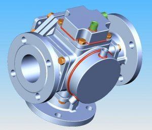 heating jacket valve on 3-way ball valve, 501F type