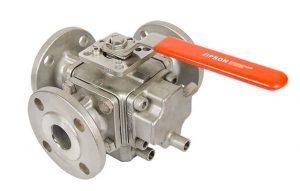 3-way heating jacket ball valve, 501F