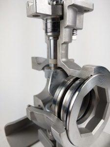 segment valve, 136M, metal seated, Zipson